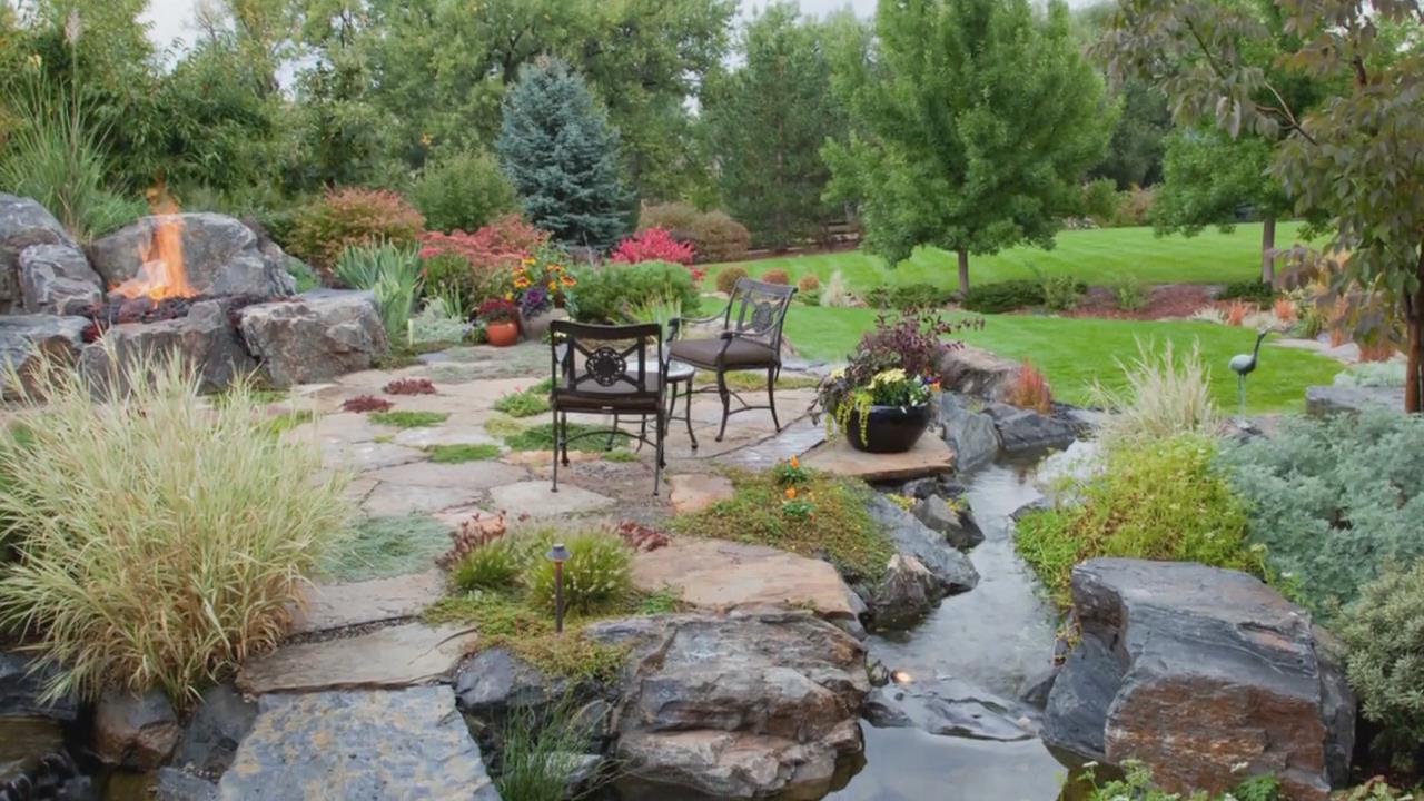 别墅花园庭院绿化